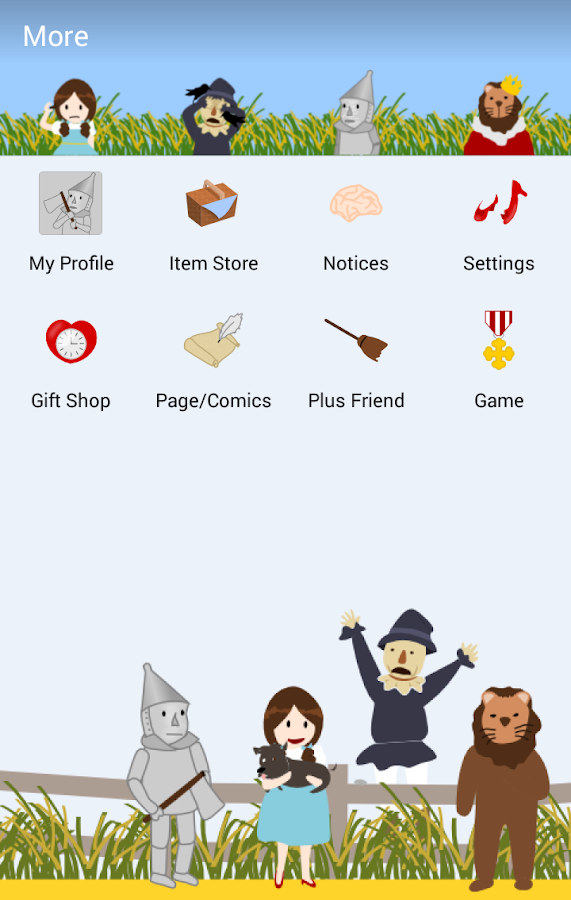 Wizard Of OZ - KakaoTalk Theme- screenshot