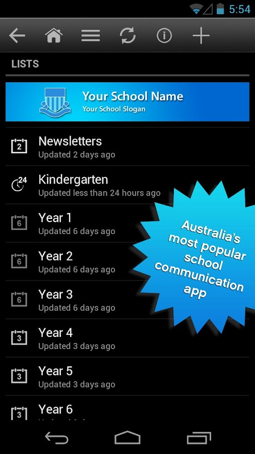 School Enews- screenshot