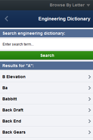 Engineering Dictionary- screenshot