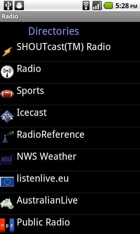 Radio- screenshot