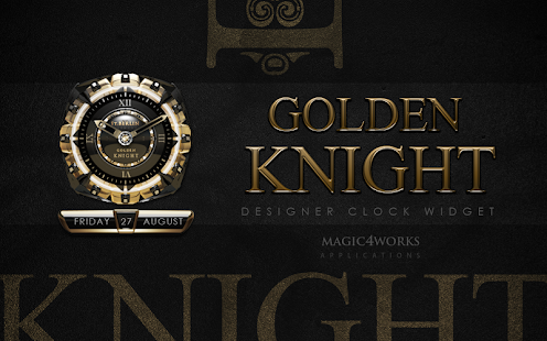 clock widget Golden Knight