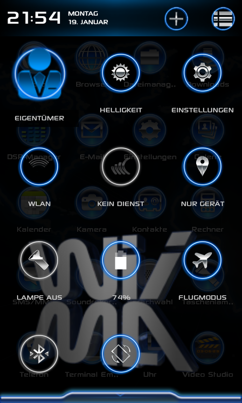 CM 11 WiiMa NBC Theme- screenshot