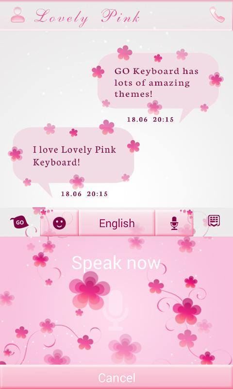 Love Light GO Keyboard Theme - screenshot
