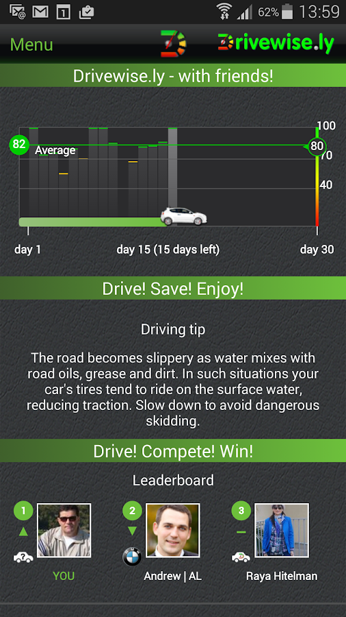 Drivewise.ly - with friends! - screenshot