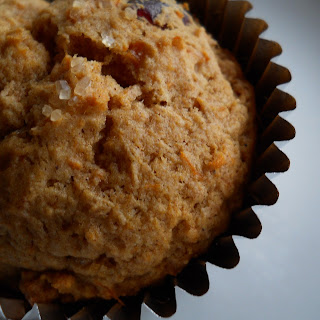 Cinnamon Scented Sweet Potato and Cranberry Muffins.