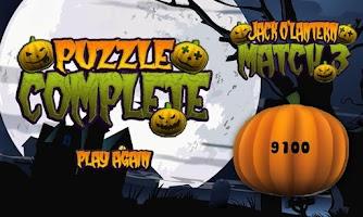 Screenshot of Halloween Pumpkin Match 3 Game