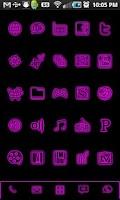 Screenshot of GloWorks Pink ADW Theme