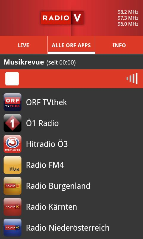 ORF Radio Vorarlberg- screenshot