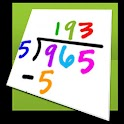 Math flash cards (Tablet) logo