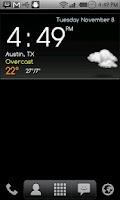 Screenshot of Digital clock weather theme 1