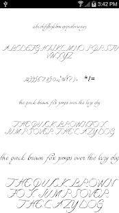 Fonts for FlipFont Script Font 3