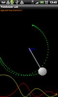 Screenshot of Pendulum Lab Physics Simulator