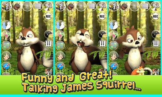 Talking James Squirrel - screenshot thumbnail