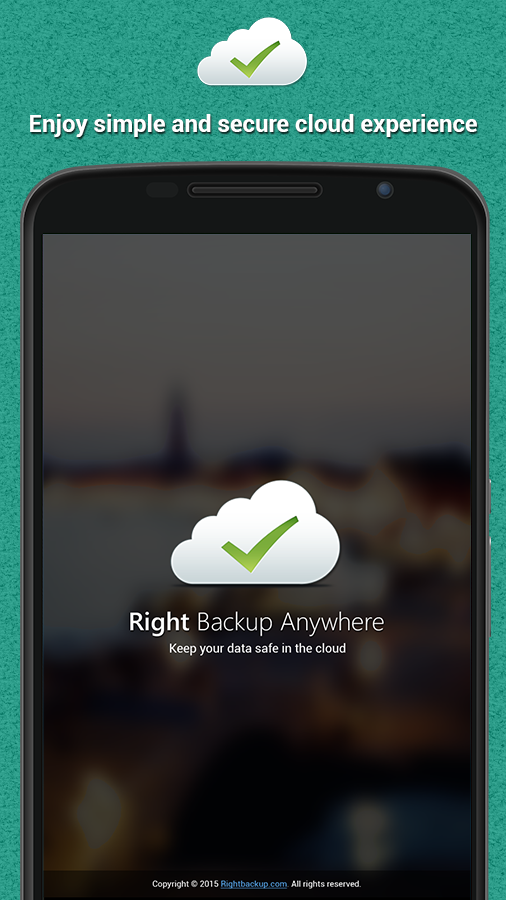Right Backup Anywhere- screenshot