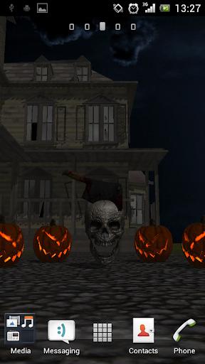 3D Halloween Live Wallpaper FR