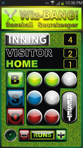 WizBang Baseball Score Keeper