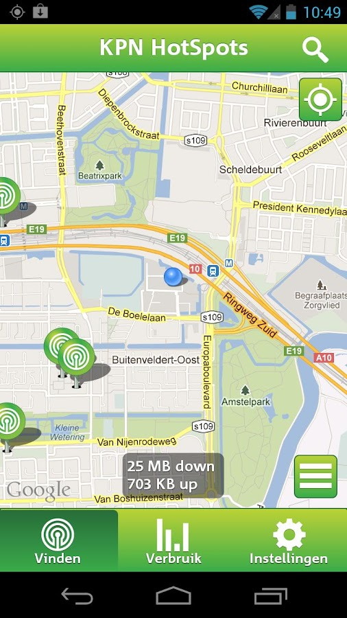 KPN HotSpots - screenshot