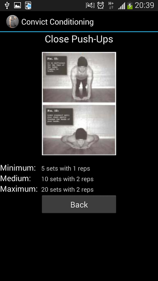 Convict Conditioning- screenshot