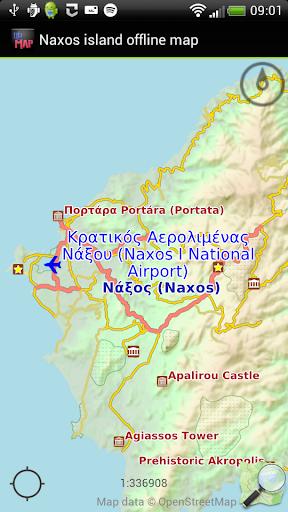 Naxos island offline map
