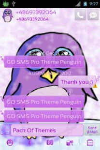 Theme Penguin for GO SMS Pro- screenshot thumbnail