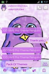 GO SMS Pro Theme Penguin - screenshot thumbnail