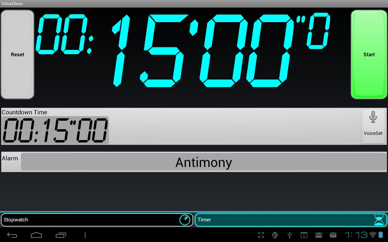 UltraChron Stopwatch Lite - screenshot