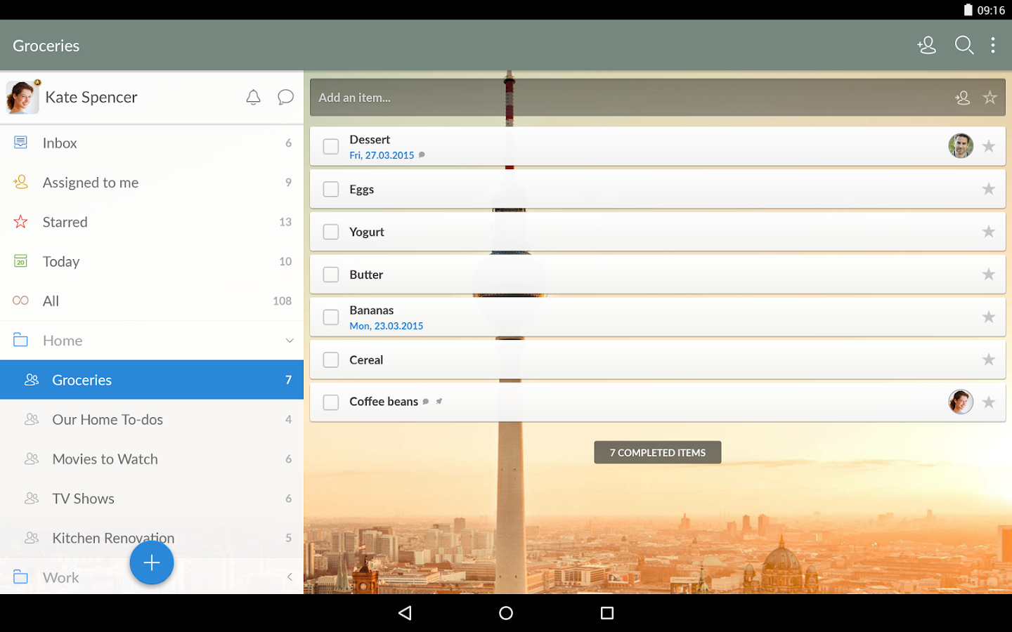 Wunderlist: To-Do List & Tasks- screenshot