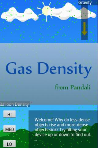Gas Density Simulator- screenshot