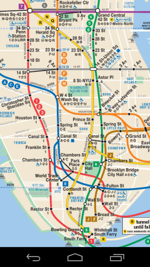 Metro North Subway Map