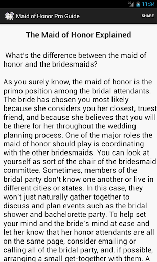【免費生活App】Maid of Honor Pro Guide-APP點子