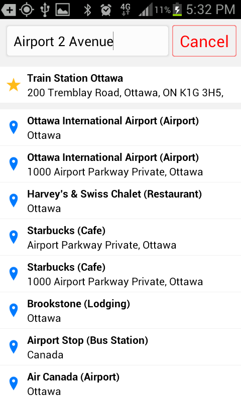 Blueline Taxi Ottawa- screenshot