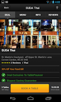 Screenshot of TablePouncer - UK Dining Deals