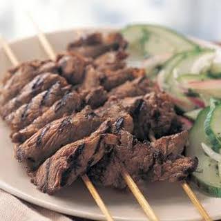 Grilled Thai Beef Skewers.
