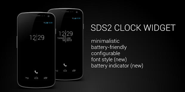 SDS2 Clock Widget - screenshot thumbnail