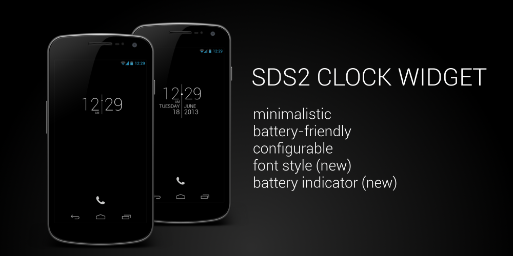 SDS2 Clock Widget- screenshot
