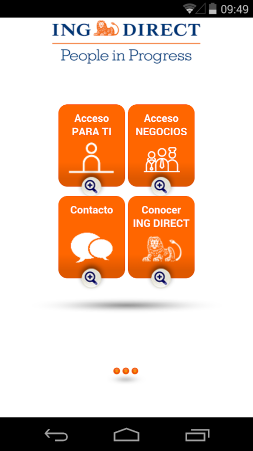 ING DIRECT Negocios- screenshot