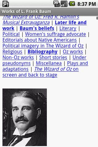 Works of L. Frank Baum - screenshot