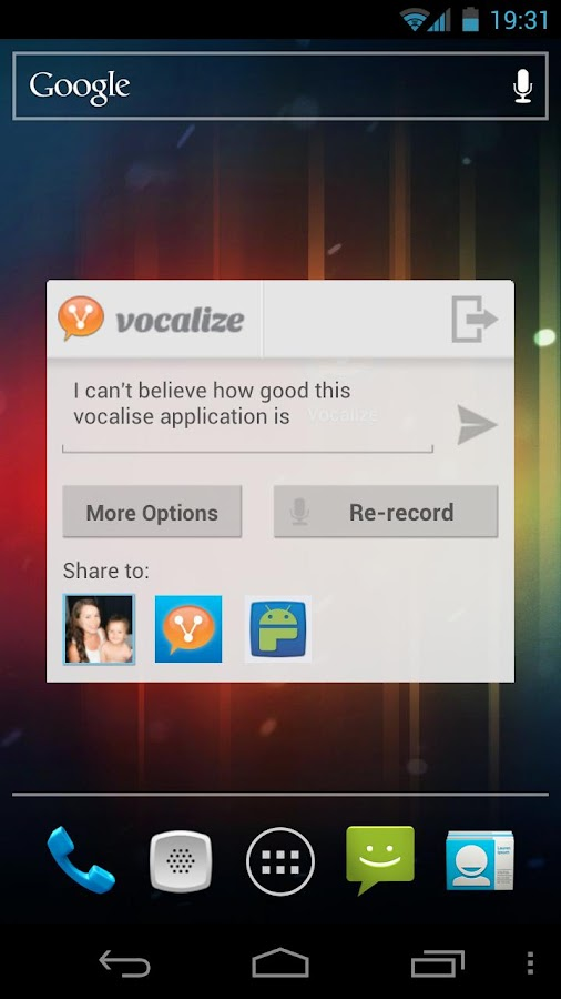 Vocalize for Facebook - screenshot