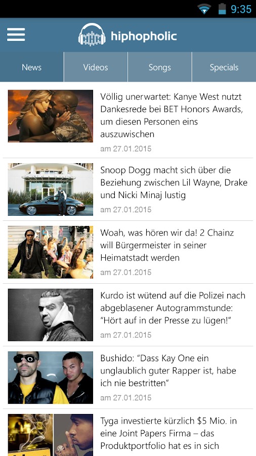 hiphopholic.de- screenshot
