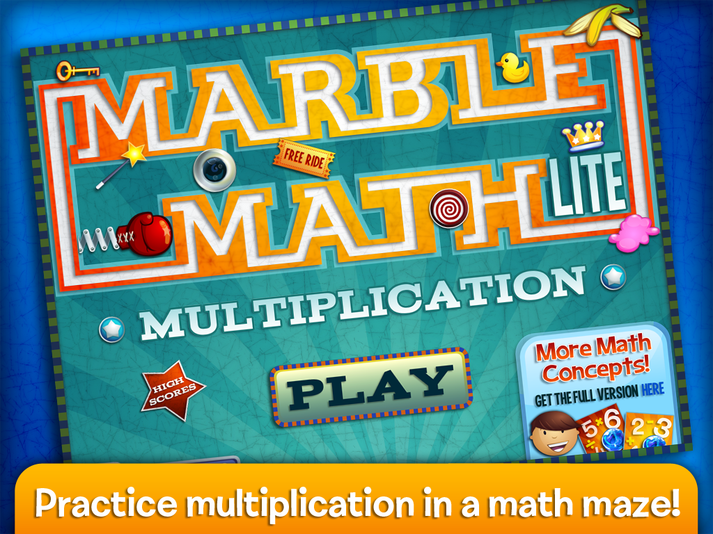 Marble Math Multiplication- screenshot