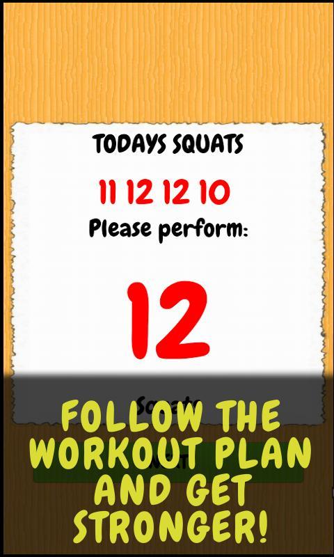 Squat - workout routine - screenshot
