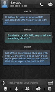 GO SMS Pro Colorglass ThemeEX - screenshot thumbnail