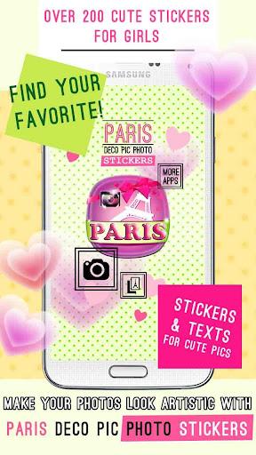 Paris Deco Pic Photo Stickers