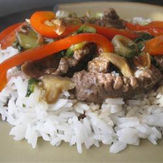 Japanese Beef Stir-Fry.