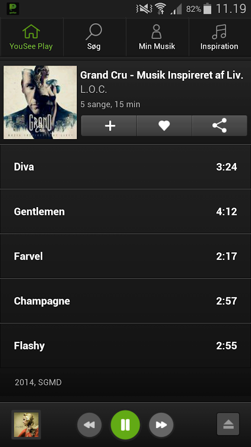 YouSee Play Musik - screenshot