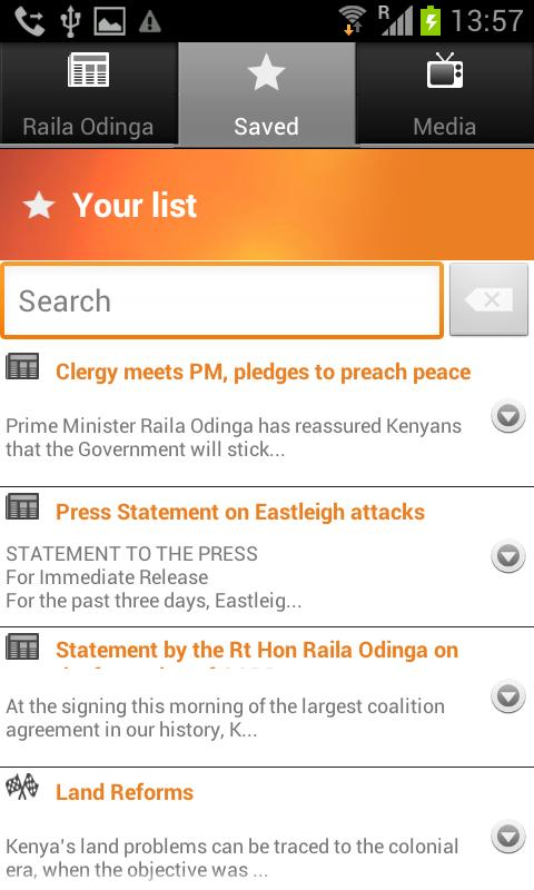 Raila Odinga for President - screenshot