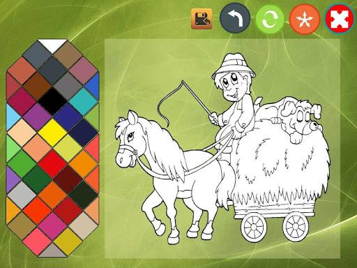 Farm coloring book