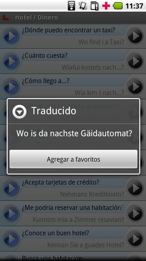 iSayHello Spanish - Bavarian- screenshot