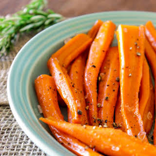 Maple-Simmered Rosemary Carrots.