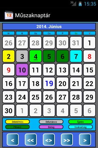 Műszaknaptár